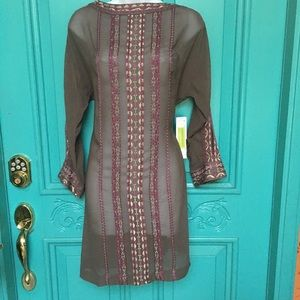 Unique and beautiful dress with cool colors!